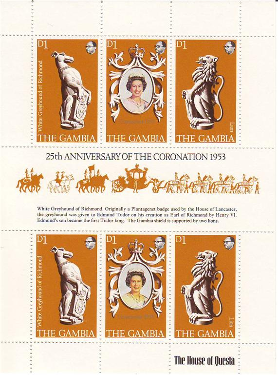 1978 - Gambia - 25th Anniv of Coronation M/S MNH