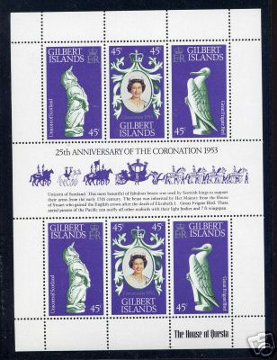 1978 - Gilbert Islands - 25th Anniv of Coronation M/S MNH