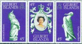 1978 - Gilbert Islands - 25th Anniv of Coronation Strip (3) MNH