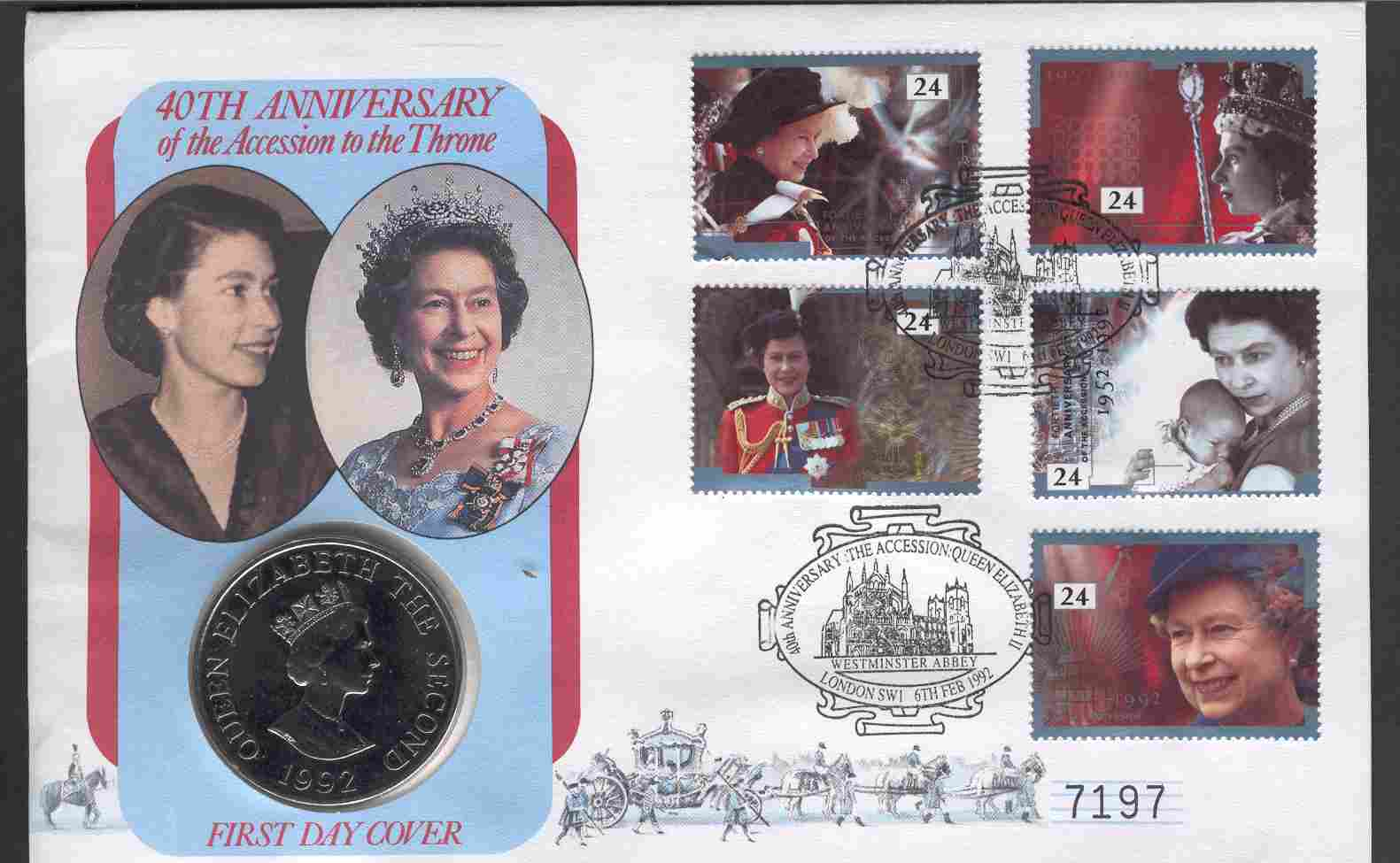 1993 GB - 40th Anniv of Queen Elizabeth II - Coin Cover (2)
