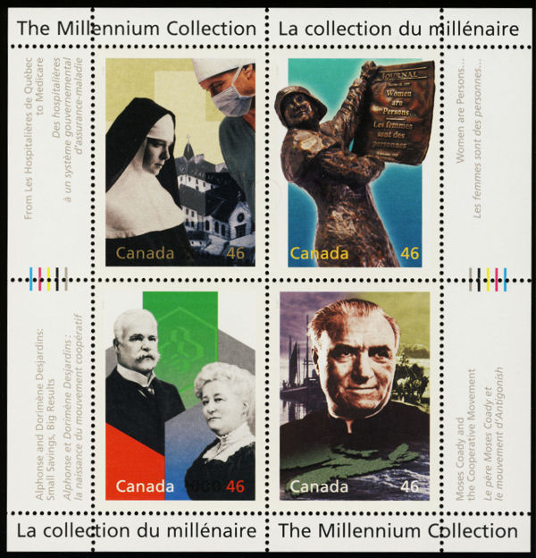 2000 CDN - Millennium Social Progress Mini-Sheet (4) MNH