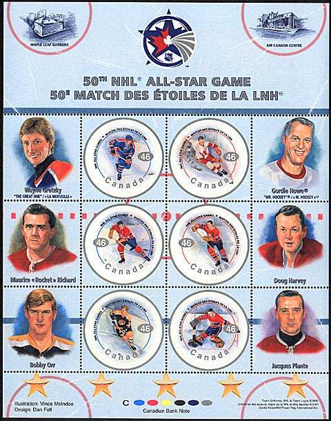 2000 CDN - NHL: All-Star Game Players Set (6) MNH
