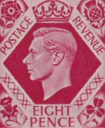 1937 GB - SG472 8d Bright Carmine MNH