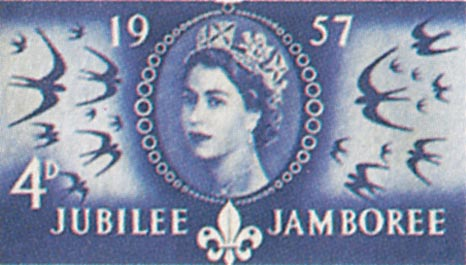 1957 GB - World Scout Jubilee Jamboree (4d) MNH