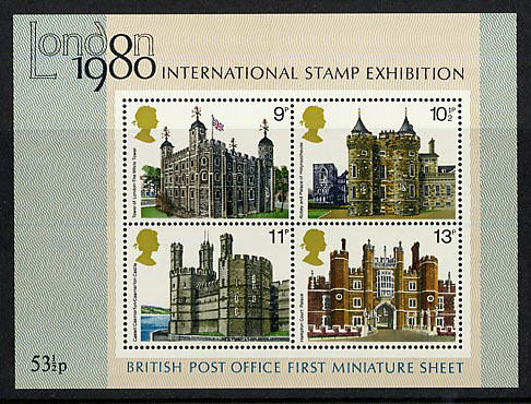 1978 GB - MS1058 - Historic Buildings MNH
