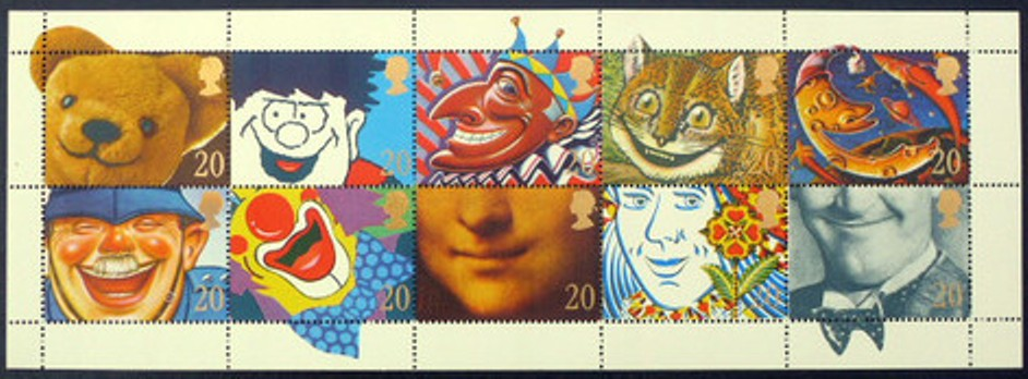 1990 GB - SG1483-92 - Greetings Smiles Se-tenant Block (10) MNH