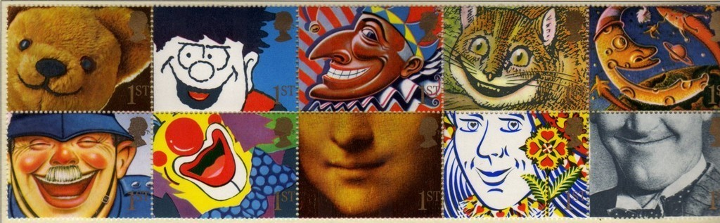 1991 GB - SG1550a - Greetings Smiles Se-tenant Block (10) VFU