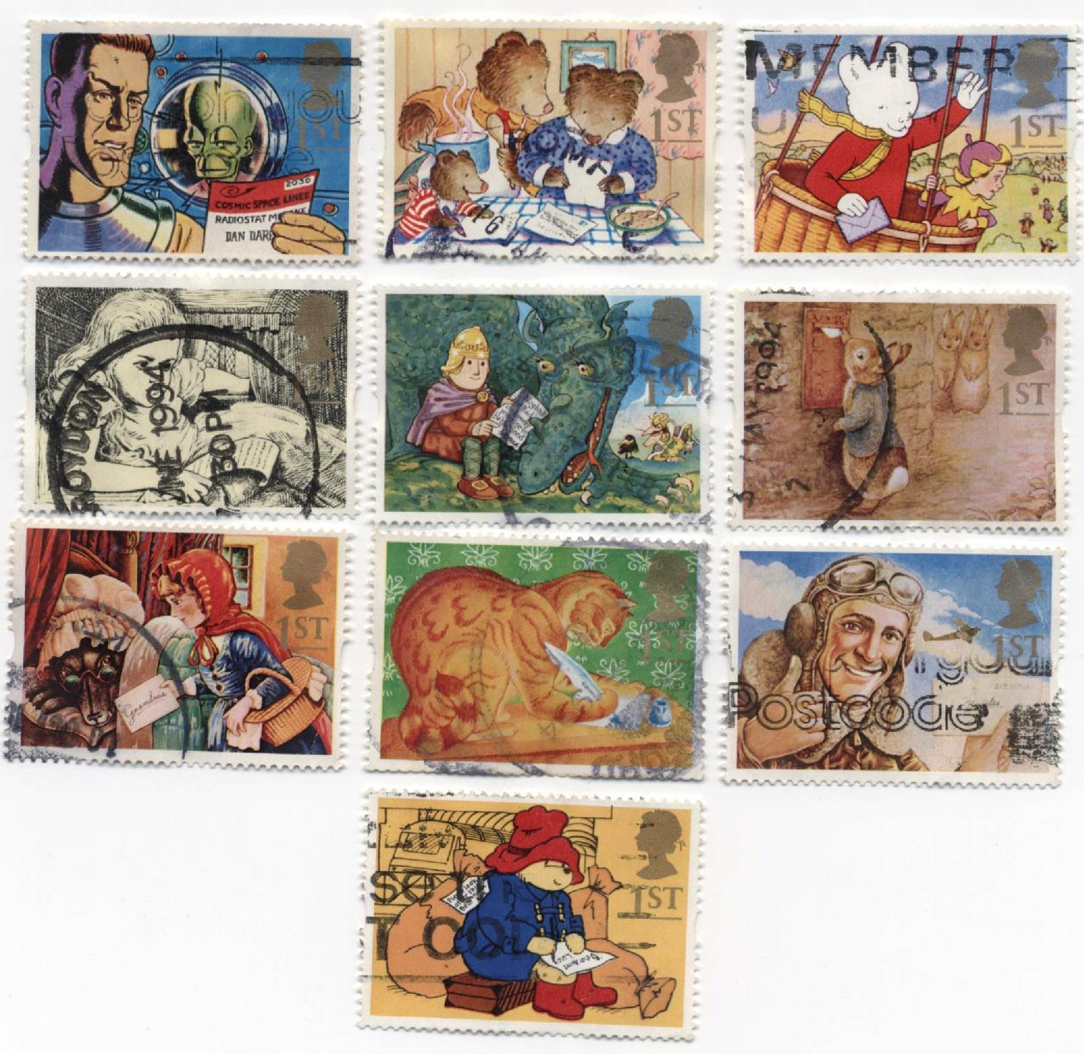 1994 GB - SG1800-9 Greeting Messages Singles (10) FU