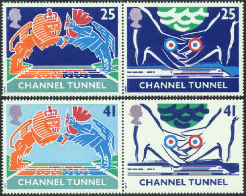 1994 GB - SG1820-23 - Channel Tunnel Se-Tenant Pairs Set (4) VFU