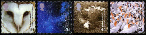 2000 GB - Millennium Above and Beyond Set (4) MNH