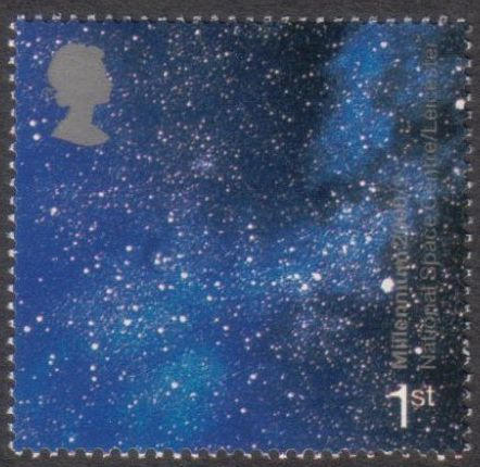 2000 GB - 1st Sky At Night Single from Booklet HBA3 MNH