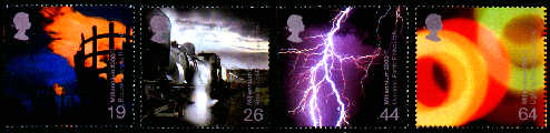 2000 GB - Millennium Fire and Light Set (4) MNH