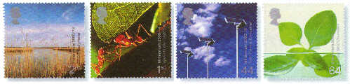2000 GB - Millennium Life and Earth Set (4) MNH