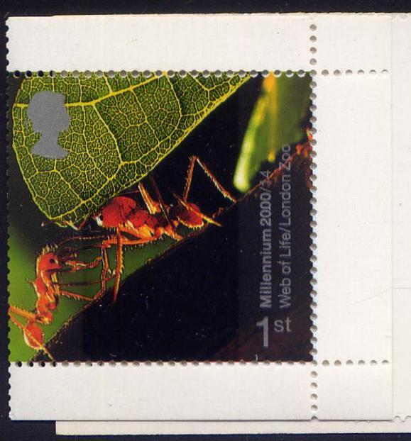 2000 GB - 1st Leafcutter Ants Single from Booklet HBA3 MNH