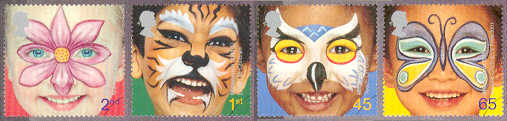 2001 GB - SG2178-81 Millennium Painted Faces Set (4) MNH