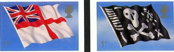 2001 GB - SG2208-9 Royal Navy Flags 1st Class SA from PM4 FU