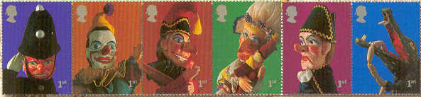 2001 GB - 300th Anniversary of Punch & Judy Set (6) MNH Strip