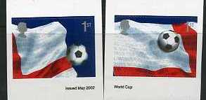 2002 GB - SG2293-94 World Cup 1st Self-Adhesive Pr from PM6 MNH
