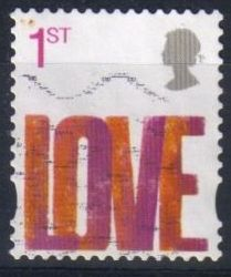 2008 GB - SG2693 Love Self-Adhesive from SA2 Booklet Used
