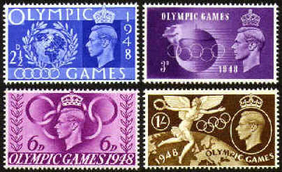 1948 GB - Olympic Games Set (4) MM