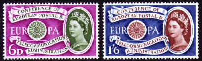 1960 GB - SG621-22 Europa: E.F.T.A. Conference Set (2) MNH