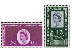 1961 GB - 7th Commonwealth Parliamentary Conference Set (2) VFU