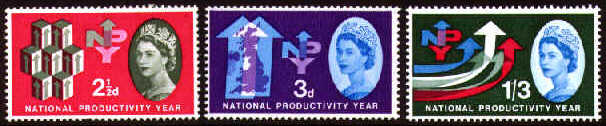 1962 GB - National Productivity Year Set (3) MNH (Phosphor)