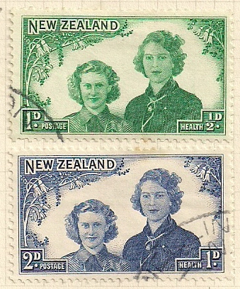1944 NZ - SG663-664 Health: The Two Princesses Set (2) FU