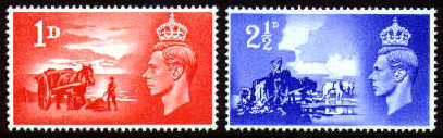 1948 GB - Third Anniv of Channel Island Liberation Set (2) MNH