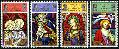 1972 Christmas: Stained Glass Windows (1st Series) Set (4) MNH