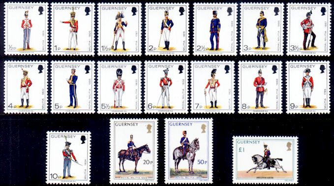 1974-76 Military Uniforms Definitive Set (18) MNH