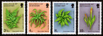 1975 Guernsey Ferns Set (4) MNH