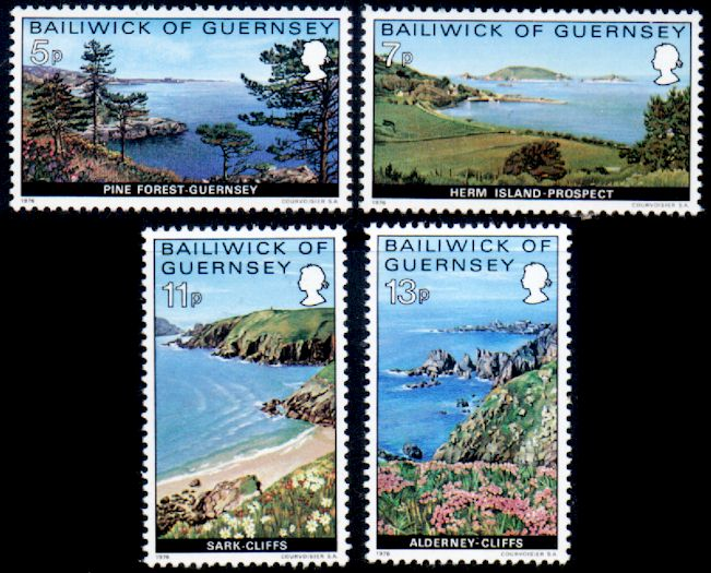 1976 Guernsey Coastal Views Set (4) MNH