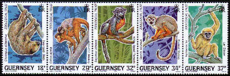 1989 10th Anniv of the Guernsey Zoological Trust P/P