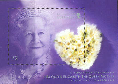 2002 HM The Queen Mother Commemoration M/S FDC