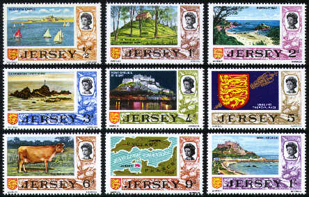 1969 Jersey I.P.A. Pre-Decimal Definitives Set (15) Used