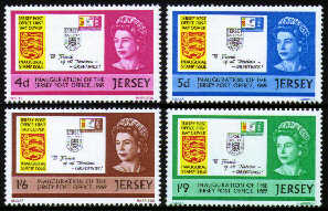1969 Jersey Inauguration of the Post Office Set (4) MNH