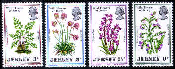 1972 Jersey Wild Flowers Set (4) MNH