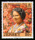 1975 Jersey Royal Visit by Queen Elizabeth the QM Set (1) MNH