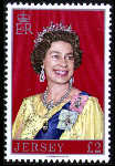 1977 Jersey QEII Portrait £2 High Value Definitive (1) MNH