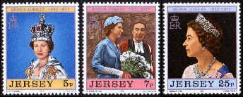 1977 Jersey Queen's Silver Jubilee Set (3) Used