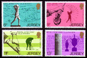 1978 Jersey Centenary of the Royal Jersey Golf Club Set (4) MNH