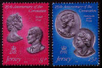 1978 Jersey 25th Anniv of Coronation Set (2) MNH