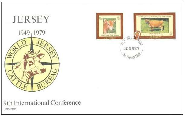 1979 Jersey 9th World Jersey Cattle Bureau Conf FDC