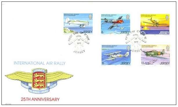 1979 Jersey 25th Anniv of the Air Rally FDC