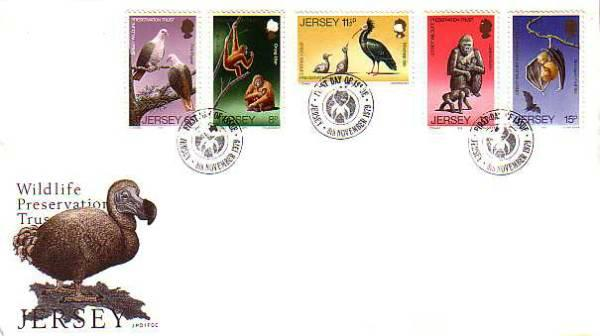 1979 Jersey 25th Wildlife Preservation Trust (3rd) FDC