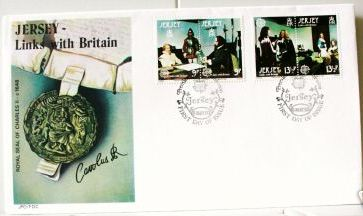 1980 Jersey Europa: Links with Britain FDC