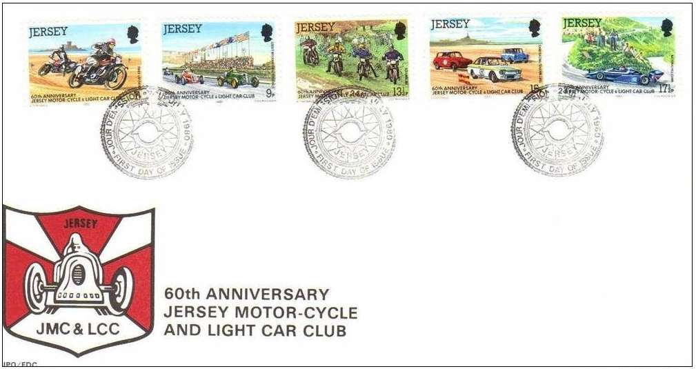 1980 Jersey Anniversary of Motoring Club FDC