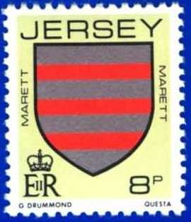 1981-88 Jersey Family Arms Definitive 8p MNH