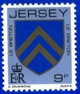 1981-88 Jersey Family Arms Definitive 9p P.14 MNH